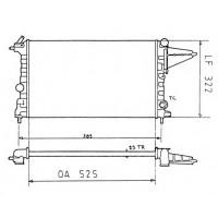Радиатор охлаждения OPEL VECTRA A - 070081N (AKS DASIS)