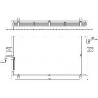 Радиатор кондиционера NISSAN MAXIMA 32 95-200 - 072024N