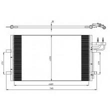 Радиатор кондиционера FORD C-MAX, FOCUS - 092007N (AKS DASIS)