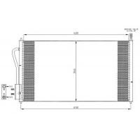 Радиатор кондиционера FORD FOCUS - 092230N (AKS DASIS)