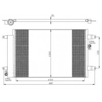 Радиатор кондиционера FORD GALAXY, VW SHARAN, SEAT 95-10