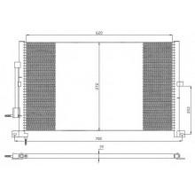 Радиатор кондиционера FORD MONDEO - 092720N (AKS DASIS)