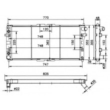 Радиатор охлаждения MAZDA 626, MX-6 - 111000N (AKS DASIS)