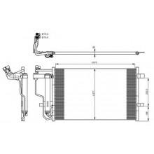 Радиатор кондиционера для мазда 3 БЛ