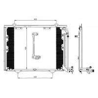 Радиатор кондиционера C-CLASS, W202, C208, 93-00 - 122060N
