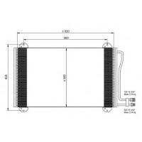 Радиатор кондиционера MERCEDES SPRINTER 95-06 132030N