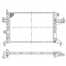 Радиатор охлаждения OPEL COMBO / CORSA C - 150013N (AKS DASIS)
