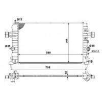 Радиатор охлаждения OPEL ASTRA H / ZAFIRA B - 150058N (AKS DASIS)