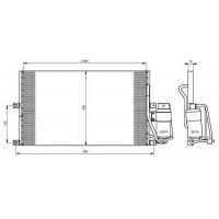 Радиатор кондиционера OPEL VECTRA B 95-02 - 152110N