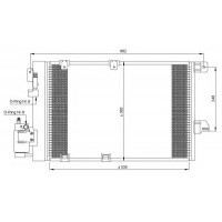 Радиатор кондиционера OPEL ASTRA G, ZAFIRA A 98-05 540X380
