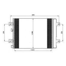 Радиатор кондиционера DACIA LOGAN, SANDERO - 182046N (AKS DASIS)
