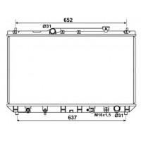 Радиатор охлаждения TOYOTA CAMRY - 210064N (AKS DASIS)