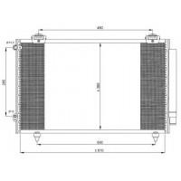 Радиатор кондиционера TOYOTA COROLLA - 212038N (AKS DASIS)