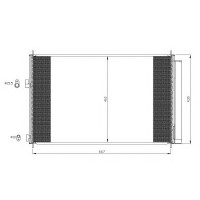 Радиатор кондиционера TOYOTA RAV 4 - 212063N (AKS DASIS)