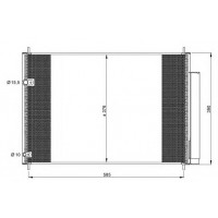 Радиатор кондиционера TOYOTA AURIS, AVENSIS, COROLLA - 212081N (AKS DASIS)