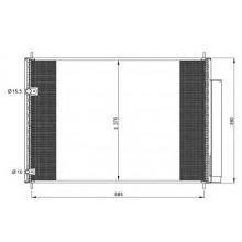 Радиатор кондиционера для тойота аурис, королла, авенсис