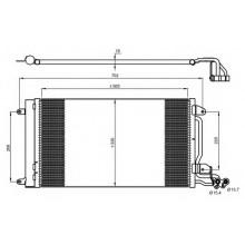 Радиатор кондиционера AUDI, SEAT, SKODA, VW - 332000N (AKS DASIS)