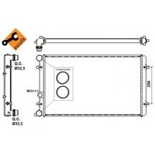 Радиатор охлаждения AUDI, SEAT, SKODA, VW - 480019N (AKS DASIS)