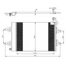 Радиатор кондиционера для сеат кордоба, ибица /  шкода фабия, румстер / фольксваген поло