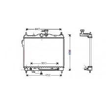 Радиатор охлаждения HYUNDAI GETZ - 510029N (AKS DASIS)