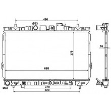 Радиатор охлаждения HYUNDAI COUPE, TIBURON, TUSCANI - 510032N (AKS DASIS)