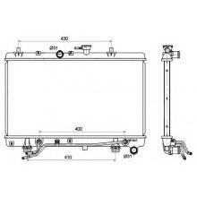 Радиатор охлаждения KIA RIO - 510049N (AKS DASIS)