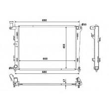 Радиатор охлаждения HYUNDAI i30 / KIA CEED - 510071N (AKS DASIS)
