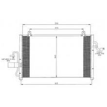 Радиатор кондиционера CHEVROLET TACUMA - 512006N (AKS DASIS)