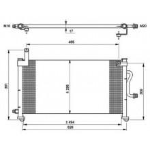 Радиатор кондиционера DAEWOO MATIZ - 512014N (AKS DASIS)