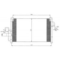 Радиатор кондиционера DAEWOO NUBIRA - 512020N (AKS DASIS)