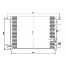 Радиатор кондиционера DAEWOO, CHEVROLET - 512022N (AKS DASIS)