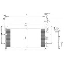 Радиатор кондиционера HYUNDAI SONATA  01-04