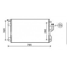 Радиатор кондиционера IX35, TUCSON ,SPORTAGE  10-до н.в  512065N