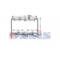 Радиатор охлаждения HYUNDAI ACCENT - 560048N (AKS DASIS)