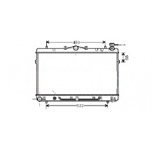 Радиатор охлаждения HYUNDAI  - 560230N (AKS DASIS)