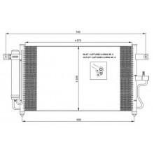 Радиатор кондиционера HYUNDAI ACCENT EXCEL 00-05