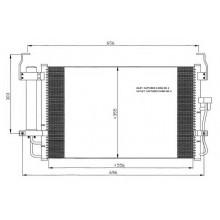 Радиатор кондиционера HYUNDAI ELANTRA 00-06 562008N