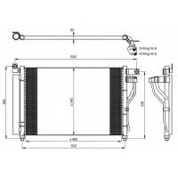 Радиатор кондиционера HYUNDAI ACCENT 1.5 CRDi 05-10 562009N