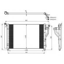 Радиатор кондиционера для хюндай акцент 1.5 црди