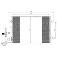 Радиатор кондиционера VW, SKODA - 042000N (AKS DASIS)