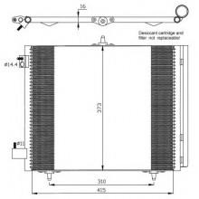 Радиатор кондиционера CITROEN, PEUGEOT - 062004N (AKS DASIS)