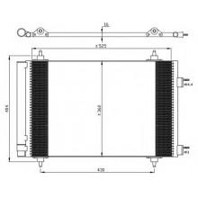 Радиатор кондиционера CITROEN, PEUGEOT - 062008N (AKS DASIS)