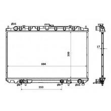 Радиатор охлаждения INFINITI I30 / NISSAN MAXIMA - 070104N (AKS DASIS)