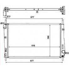Радиатор охлаждения FORD MONDEO - 091610N (AKS DASIS)