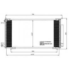 Радиатор кондиционера HONDA CR-V - 102009N (AKS DASIS)