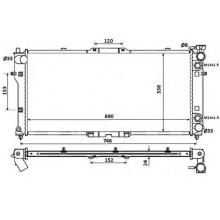 Радиатор охлаждения MAZDA 626, MX-6 - 110910N (AKS DASIS)