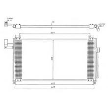Радиатор кондиционера MAZDA 323 - 112330N (AKS DASIS)