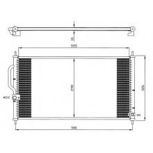 Радиатор кондиционера HONDA CR-V - 112370N (AKS DASIS)
