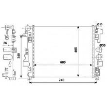 Радиатор охлаждения MERCEDES VIANO, VITO - 121000N (AKS DASIS)