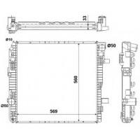 Радиатор охлаждения MERCEDES-BENZ ATEGO - 134180N (AKS DASIS)
